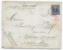 ARGENTINA - 1892 - ENVELOPPE De BUENOS AIRES => CHATEAU QUEYRAS (HAUTES ALPES) Via PAQUEBOT TAMAR - MARITIME - Brieven En Documenten
