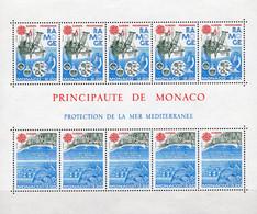 Naturschutz EUROPA 1986 Monaco Block 32 ** 25€ Labor-Schiff Strand Meerestier Bloque Fauna S/s Bloc Ship Sheet CEPT - Blocks & Kleinbögen
