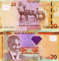 NAMIBIA, 20 DOLLARES, 2013, P12b, UNC - Namibië
