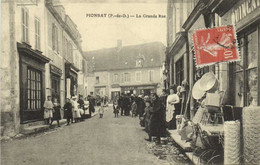 PIONSAT  La Grande Rue Quincaillerie Recto Verso - Andere Gemeenten