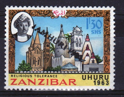 Zanzibar 1964  Single 1.30c Stamp Issued To Celebrate Independence With Overprint. - Zanzibar (1963-1968)
