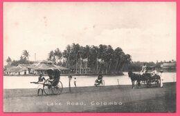 Asie - Ceylon - Sri Lanka - Colombo - Lake Road - Pousse Pousse - Attelage - Animée - Edit. APOTHECARIES Co Ltd - Sri Lanka (Ceilán)