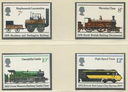 GROSSBRITANNIEN / MiNr. 682 - 685 / 150 Jahre Eisenbahn / Postfrisch / ** / MNH - Trenes