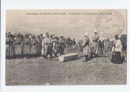 MILITARIA - CAMPAGNE DU MAROC 1912-13 - DERNIER ADIEU AU CAMARADE MORT POUR LA PATRIE - CACHET CASABLANCA - Otras Guerras