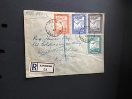 Zanzibar Stamps Al Busaid Dynasty Regd Cover Always Welcome Offer See Photos - Zanzibar (1963-1968)