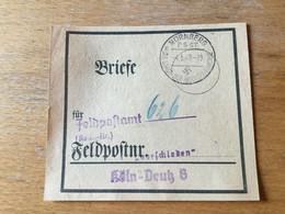 K11 Deutsches Reich 1941 Beutelfahne Für Feldpostbriefe Von Nürnberg - Storia Postale