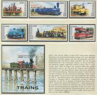 GUINEA / MiNr. 1579 - 1584 Und  Block 501 / Alte Lokomotiven / Postfrisch / ** / MNH - Trenes