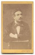 OLD CARDBOARD CABINET PHOTO, ATELIER ADLER LAJOS, BONYHAD / HARKANY HUNGARY, D 105 X 65 Mm - Anonieme Personen