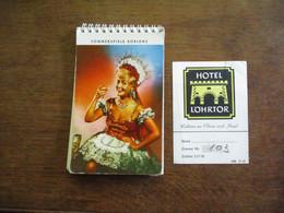 Lot Van 2 Stuks Adreskaartje Plus Boek Met Fotokaarten Enz .  SOMMERSPIELE   Duitsland  KOBLENZ 1965 - Koblenz