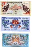 Bhutan  / Lot De  3 Billets / UNC - Bhutan