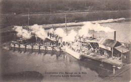 S44-015 Contruction D'un Barrage Sur La Risle Par L'Entreprise Louis Salentey à Louviers - Carte Publicitaire - Louviers