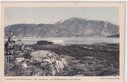 Grönland - Bei Ritenbank - Landschaft Mit Eskimofrauen & Hütten - Phot.Dr.Heim         (A-278-200713) - Greenland