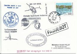 YT 3003 Accord Ramoge - Posté à Bord Du MD - Paquebot - Le Port - La Réunion - 22/09/1997 - Lettres & Documents