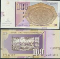 Makedonien Pick-Nr: 16f Bankfrisch 2005 100 Denari - Macedonië