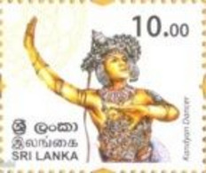 Sri Lanka, 2017 , Personalized Definitives (Kandayan Dancer), 1 W, MNH - Danza