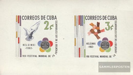 Cuba Block22 (complete Issue) Unmounted Mint / Never Hinged 1962 World Festival The Youth - Nuevos