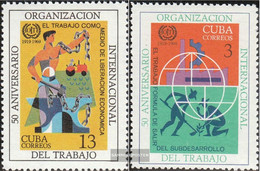 Cuba 1471-1472 (complete Issue) Unmounted Mint / Never Hinged 1969 International Labor Organization - Nuevos