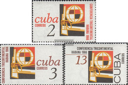 Cuba 1133-1135 (complete Issue) Unmounted Mint / Never Hinged 1966 Conference - Nuevos