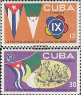 Cuba 1031-1032 (complete Issue) Unmounted Mint / Never Hinged 1965 World Festival - Nuevos
