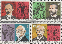 Cuba 969-972 (complete Issue) Unmounted Mint / Never Hinged 1964 Revolutionary War - Nuevos