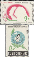 Cuba 811-812 (complete Issue) Unmounted Mint / Never Hinged 1962 Cuban Frauenverband - Nuevos