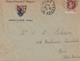"""13487  CENTRE D'ÉDUCATION """"BAYARD"""" - AUBIGNAC-les-BAINS (ARIÈGE) - St GIRONS Le 21/4/43 - 2. Weltkrieg 1939-1945"""