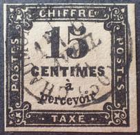 R1118/300 - 1863/1870 - TIMBRE TAXE - N°3 CàD (léger Pelurage) - 1859-1955 Usados