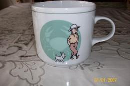 "5xMug Tintin/Dupont/capitaine Hadock Porcelaine ""table Et Couleur"" - Other"