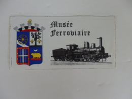 Autocollant Sur Le Musée Ferroviaire Le Buisson De Cadouin (Dordogne). - Adesivi