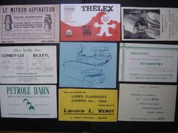 Lot 6 De 9 BUVARDS Blotting Paper Löschpapier 吸取紙 промокательная бумага 吸墨纸 - Collections, Lots & Series