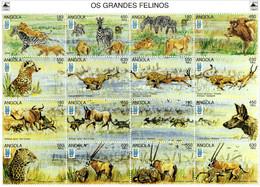 """Angola -  Feuillet  """"Grands Félins"""" - Neuf** - Felinos"""