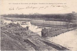 BERG19-  ACHAT IMMEDIAT TUILIERES    EN DORDOGNE LE BARRAGE  INONDATION DES CHANTIERS LE 7 NOVEMBRE 1905  CPA  CIRCULEE - Zonder Classificatie