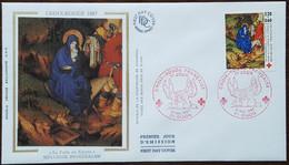 FDC 1987 - YT N°2498 - CROIX ROUGE - DIJON - 1980-1989