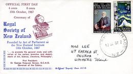NOUVELLE-ZELANDE. N°465-6 De 1967 Sur Enveloppe 1er Jour.  Géologue James Hector. - Non Classés