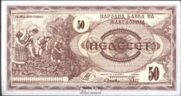 Makedonien Pick-Nr: 3a Bankfrisch 1992 50 Denar - Macedonië