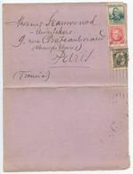 Spain 1935 Lettercard Madrid To Paris France, Scott 528 547 549 - 1931-50 Covers
