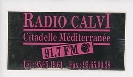 RADIO CALVI Citadelle Méditerranée 91,7 FM (autocollant 14X7) - Andere Gemeenten