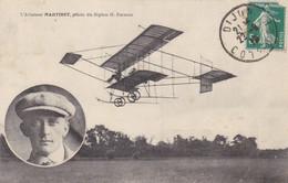 L'Aviateur Martinet, Pilote Du Biplan H. Farman - Aviatori
