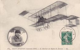 Dijon-Aviation (septembre 1910) - R. Martinet Sur Biplan H. Farman - Piloten