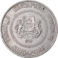 Monnaie, Singapour, 50 Cents, 1989, British Royal Mint, TTB, Copper-nickel - Singapore