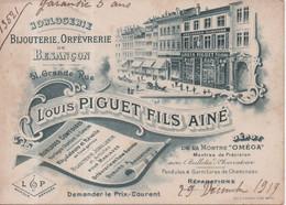 Horlogerie Bijouterie Orfèvrerie De Besançon 51, Grande Rue Louis Piguet Fils Ainé Montre Oméga RARE !!! - Besancon