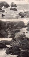 CPA, Belle-Ile-en-Mer, Lot De 9 Cartes De La Cote à Plusieurs Endroits - Belle Ile En Mer