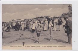 SAINT-BREVIN-L'OCEAN  *  La Plage Pendant Un Concours De Construction  -  CPA En Très Bon état - Saint-Brevin-l'Océan