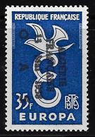 "ALGERIE 1958 - YT1310** - EUROPA - SURCHARGE ""ALGERIE FRANCAISE 13 MAI 1958 OAS"" - Unused Stamps"