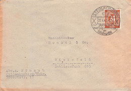 ALLIIERTE BESETZUNG - BRIEF 1947 STEINACH - BIELEFELD SST //T21 - Zone Anglo-Américaine