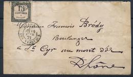 DS-481: FRANCE: Lot Avec  Taxe N°4 (défectueux)  Sur Devant De Lettre - 1859-1955 Lettres & Documents