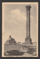 Egypt - 1915 - RARE - Registered - Old Post Card - Column Of Khartoum & Sphinx, Alexandria - 1915-1921 Protectorado Británico