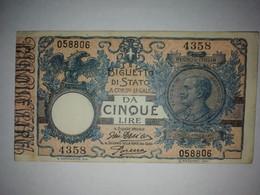 5 Lire Vittorio Emanuele III 1904 - Unclassified