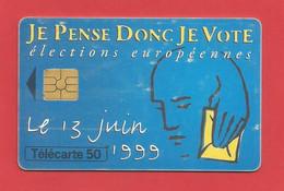 TELECARTE 50  U TIRAGE 2000 000 EX. élections Européennes Le 13 Juin 1999 ---- X 2 Scan - Telefoonkaarten