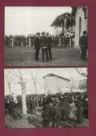 301020C - 2 PHOTO BRUCHON 69 LYON 1914 Courses De VILLEURBANNE Jockey Hippodrome Cheval Paddock Pesage - Autres